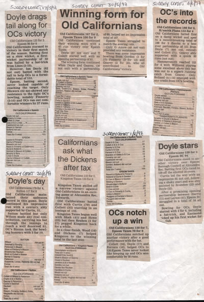 An image of the 1997 Match Report