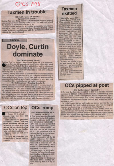 An image of the 1998 Match Report